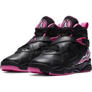 NEW Air Jordan 8 Retro Pinksicle GS Pink & Black